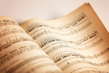 music book: Musical Note. Stock Photo