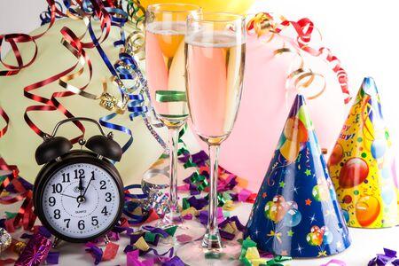 12 o'clock: New Years Eve. Stock Photo