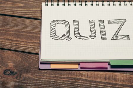 revision: Quiz. Stock Photo