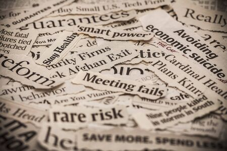 word collage: Newspaper. Stock Photo
