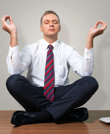 business suit: Yoga. Stock Photo