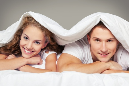 female sexuality: Bed. Stock Photo