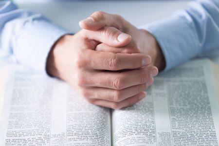 worship service: Pray. Stock Photo