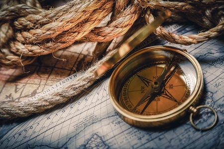 nautical compass: Map.