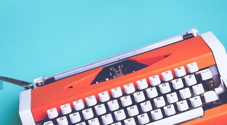 old typewriter: Hipster. Stock Photo