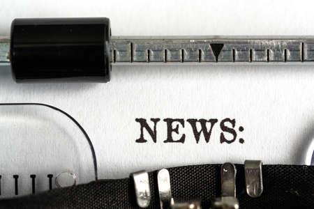 information medium: Typewriter.