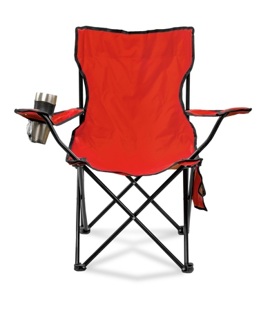 folding chair: Deck Chair. Stock Photo