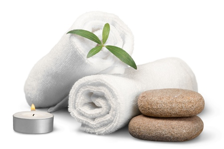 white towels: Spa Treatment.