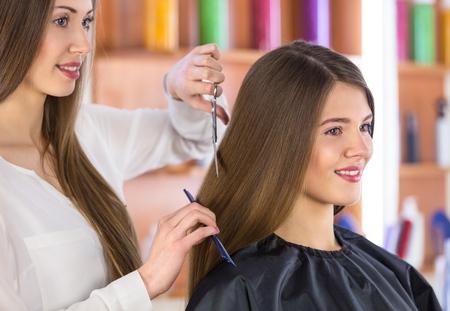 beauty parlour: Hair. Stock Photo