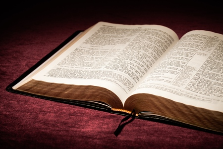 open up: Bible. Stock Photo