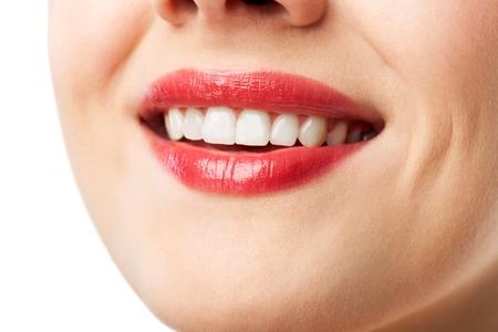 smile teeth: Smiling.