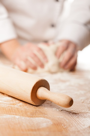 female hands: Cooking. Stock Photo