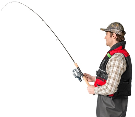 Fishing pole: Fishing. Stock Photo