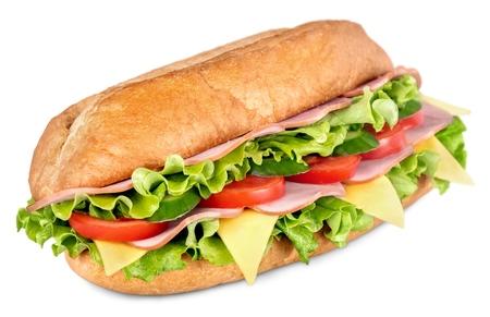 crusty french bread: Sandwich. Stock Photo
