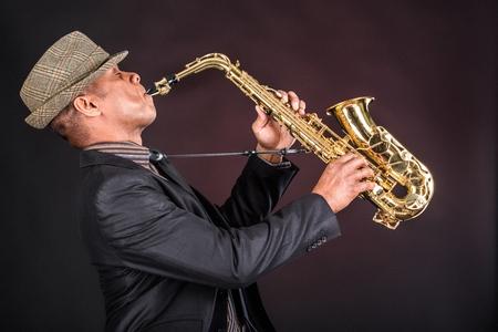 african sax: Jazz. Stock Photo