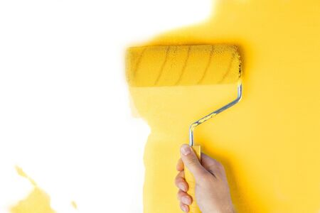 yellow paint: Wall.