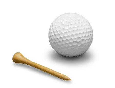 sports ball: Golf.