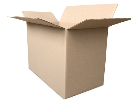 package sending: Box. Stock Photo