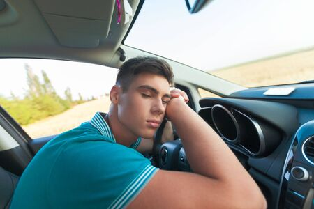 dream land: Tired. Stock Photo