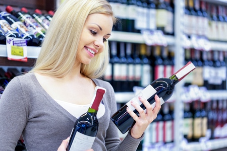 food products: Wine. Stock Photo