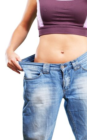 loss weight: Overweight. Stock Photo