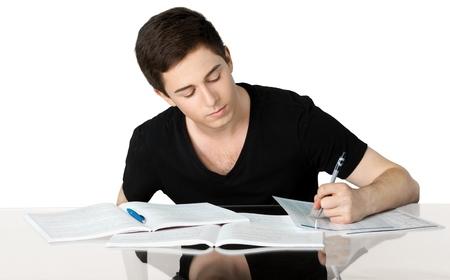 school work: Teenager.