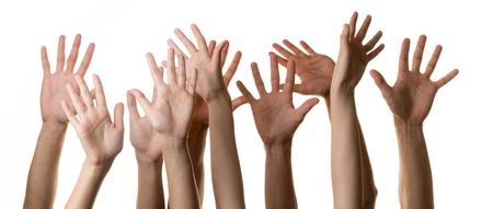 people in row: Human Hand.