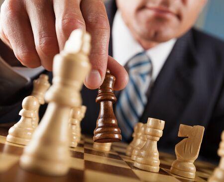 games hand: Chess.