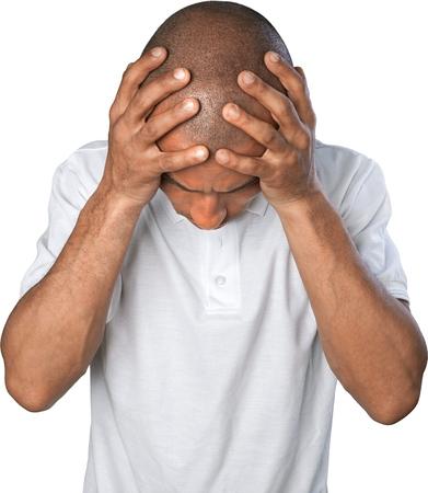 black man: Headache.