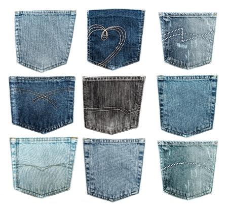 denim jeans: Pocket.