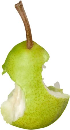 missing bite: Pear. Stock Photo