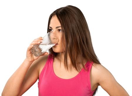 tomando agua: Agua.