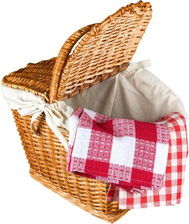empty basket: Picnic Basket.