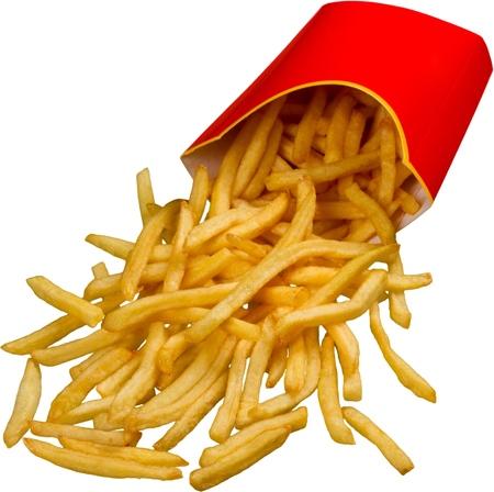 comida rapida: Papas fritas.