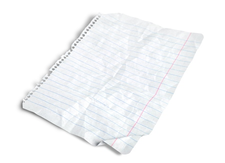 in lined: Lined Paper. Stock Photo