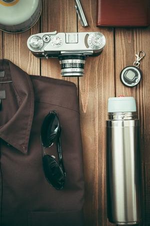 antique binoculars: Travel.