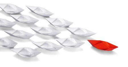 liderazgo: Origami. Foto de archivo