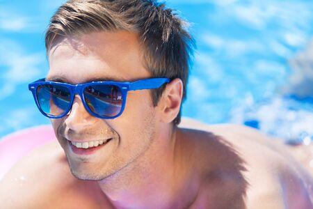 lilo: Pool. Stock Photo