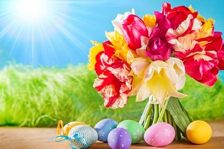 easter background: Easter.