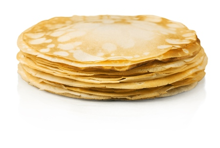 eating pastry: Crepe. Stock Photo
