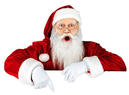 only one senior: Santa Claus. Stock Photo