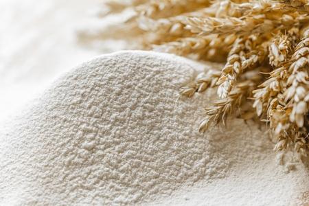 white bread: Flour.