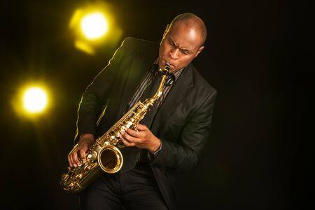musico: Jazz. Foto de archivo