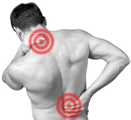 musculoso: Dolor. Foto de archivo
