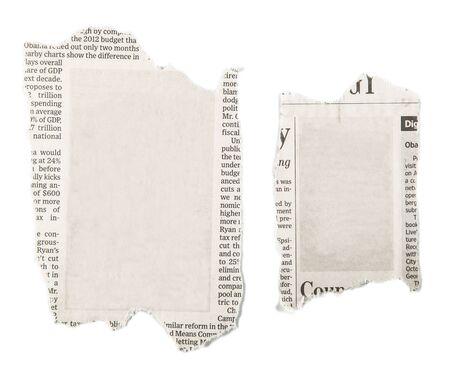 advertisement: Newspaper. Stock Photo