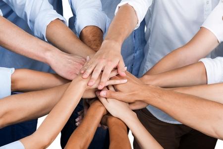 teamwork business: Human Hand.