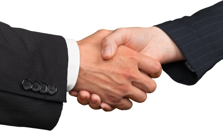 male hand: Handshake. Stock Photo