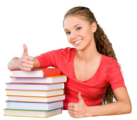 teenagers only: Student. Stock Photo