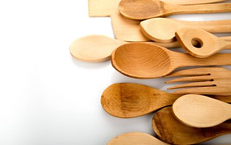 cooking utensil: Wooden Spoon. Stock Photo