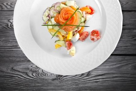 plates of food: Shrimp. Stock Photo